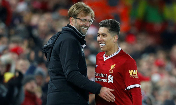 Liverpool's Klopp backs 'unbelievably valuable' Firmino after change of position