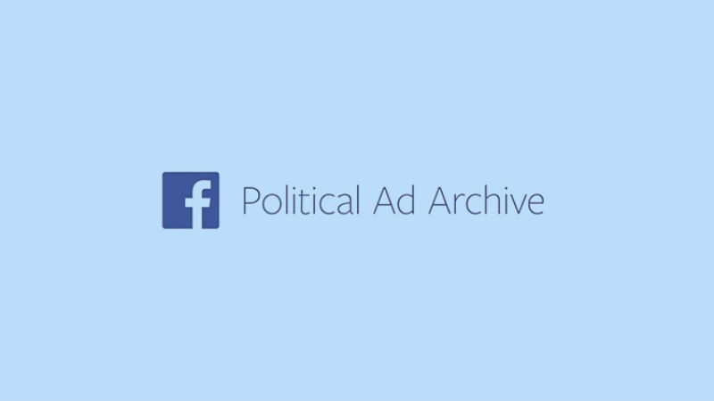 Facebook released their new political ad archive