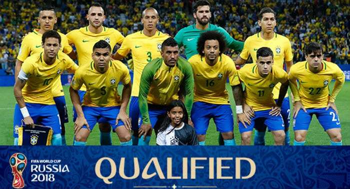 Brazil FIFA World Cup 2018 Squad