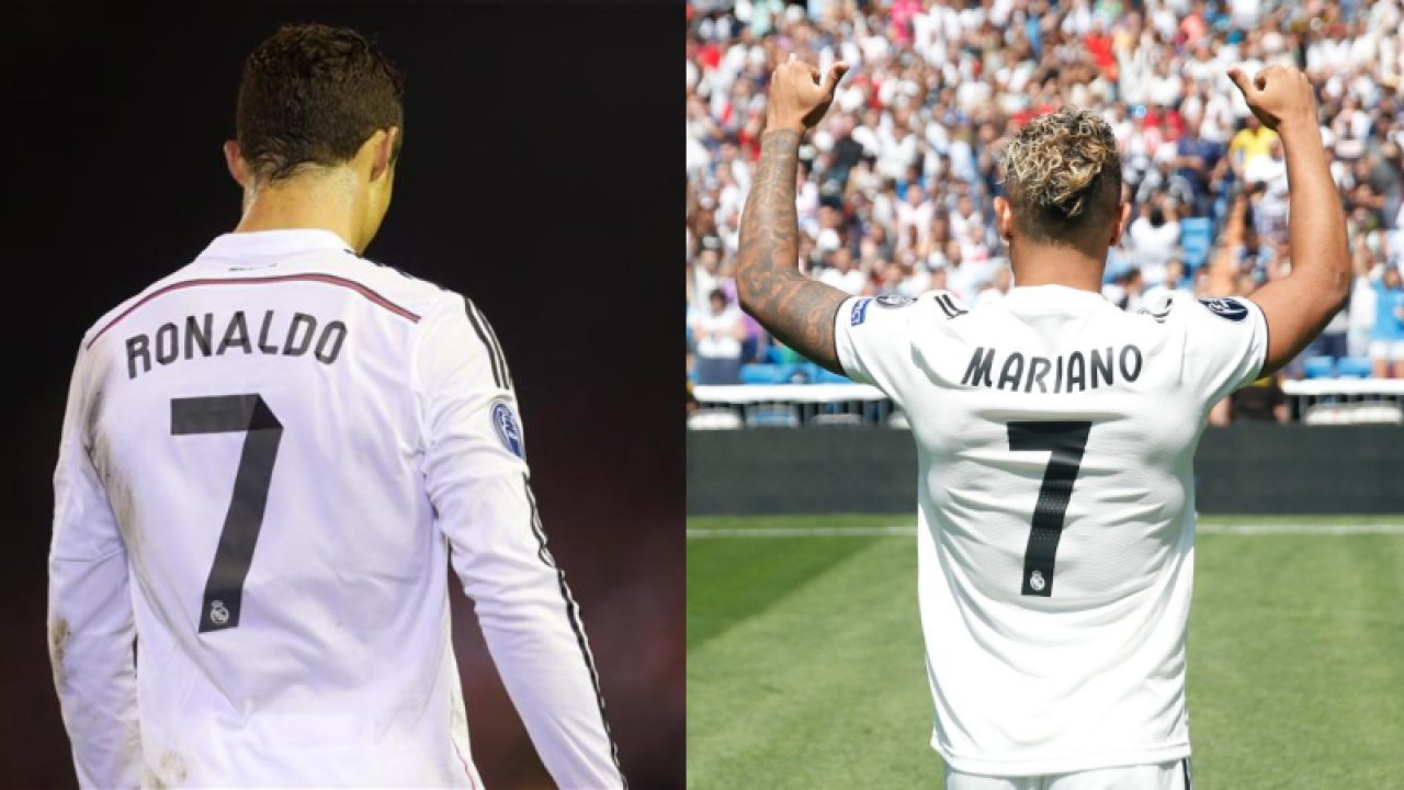 online store b2db5 99d85 Mariano Diaz gets Cristiano Ronaldo's Number 7 Shirt at Real ...