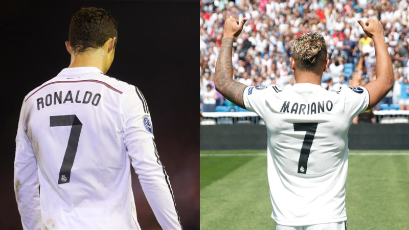 online store 5f873 55837 Mariano Diaz gets Cristiano Ronaldo's Number 7 Shirt at Real ...