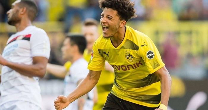 English wonderkid Jadon Sancho signs new long-term Dortmund deal