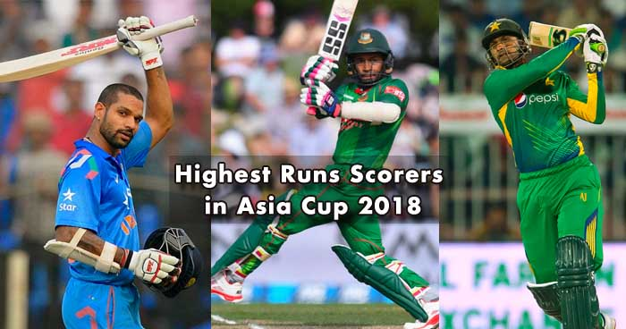 Leading Runs Scorers in Asia Cup 2018