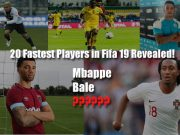 FIFA 19 Fastest Players,