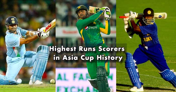 Most Runs in Asia Cup - All Time List