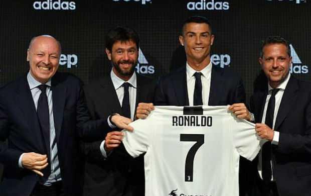 Andrea Agnelli and Cristiano Ronaldo