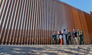 Donald Trump's border wall project unveils