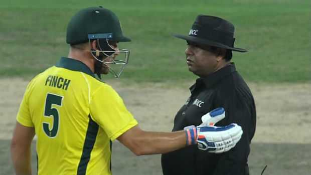 Finch not happy with D'Arcy Short run out
