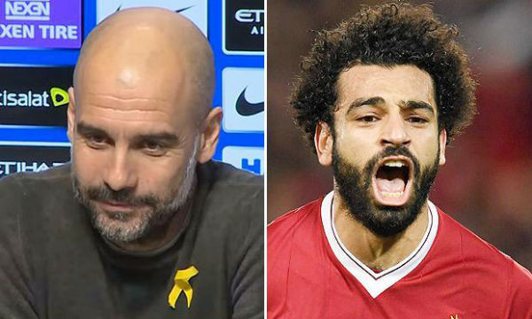 Pep Guardiola compares Salah to Aguero