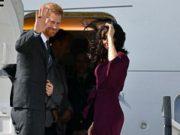 Prince Harry and Meghan Markle waves goodbye to Australia