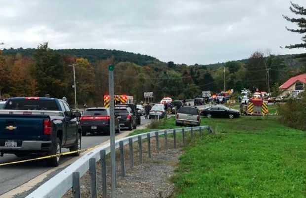 Limousine car crash