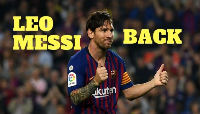 Messi Returs to Training