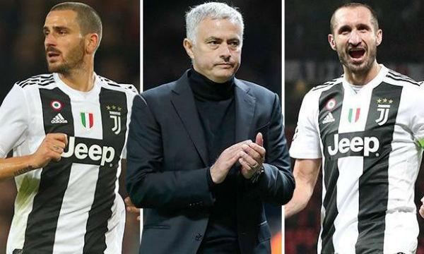 Jose Mourinho praised Juventus defenders Giorgio Chiellini and Leonardo Bonucci