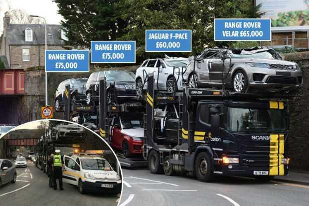 Range Rovers and Jaguars Crashed