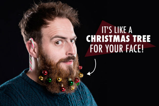 If you want to dangle ornaments in your beard