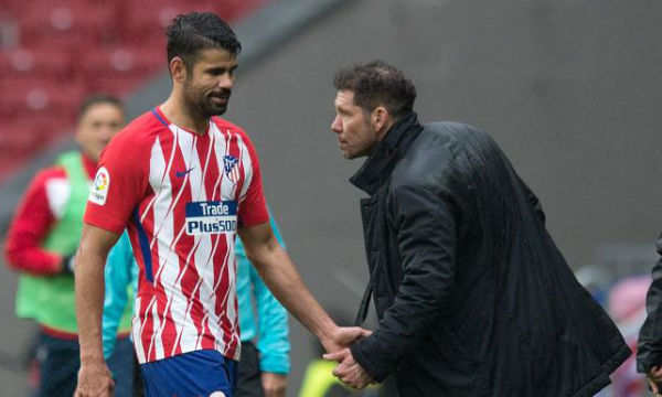 Diego Simeone confirm the foot injury of Diego Costa
