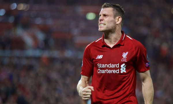 James Milner says Liverpool is not thinking about the Europa League