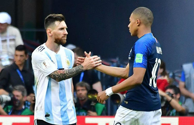 Kylian Mbappe and Lionel Messi