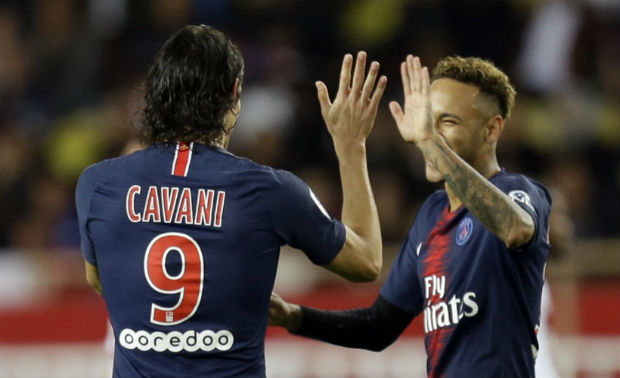 Neymar and Edinson Cavani