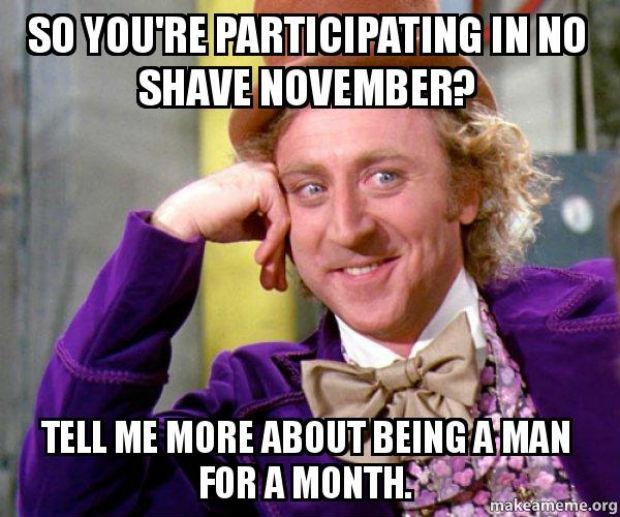 No Shave November Meme