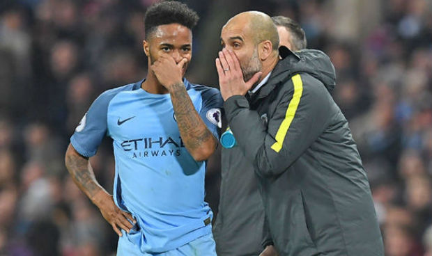 Guardiola and Raheem Sterling