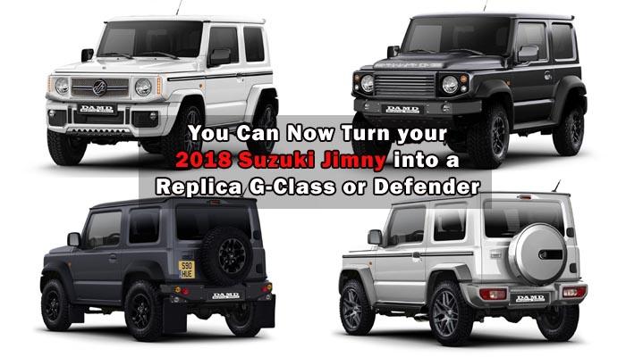 You Can Now Transform Your 2018 Suzuki Jimny Into A Replica G Class