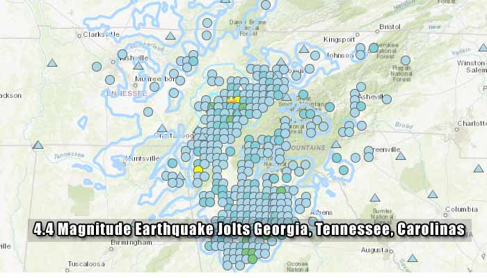 4.4 Magnitude Earthquake Jolts Georgia, Tennessee, Carolinas-USGS