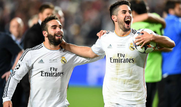 Dani Carvajal and Isco