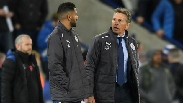 Claude Puel and Riyad Mahrez