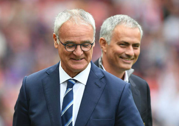 Claudio Ranieri and Jose Mourinho