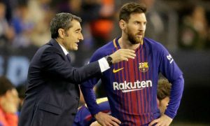 Ernesto Valverde lost his words to praise Lionel Messi