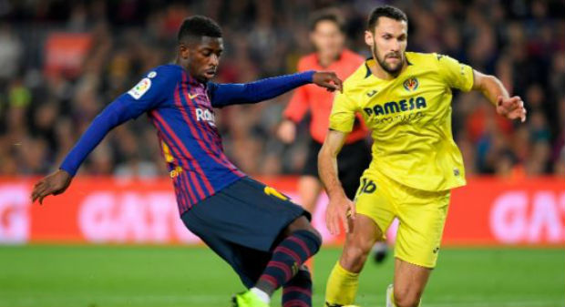 Ousmane Dembele against Villarreal