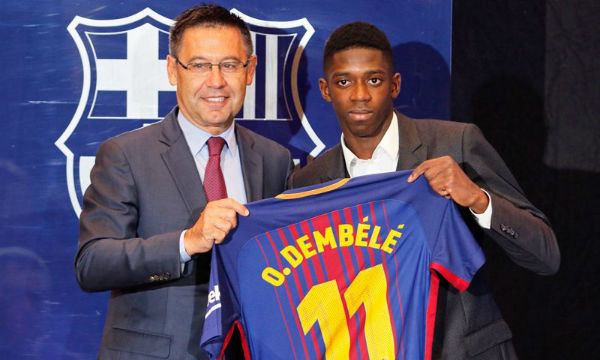 Ernesto Valverde is happy with the performance of Ousmane Dembele