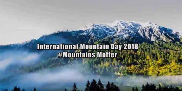 International Mountain Day 2018