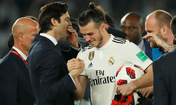 Santiago Solari hails 'sensational' Gareth Bale