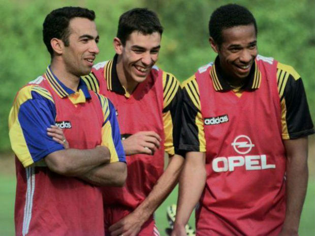 Youri Djorkaeff on Thierry Henry