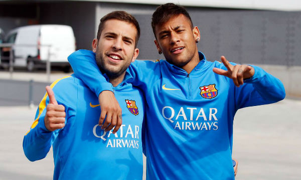 Jordi Alba believes Neymar's rumored comeback at Barcelona makes no sense