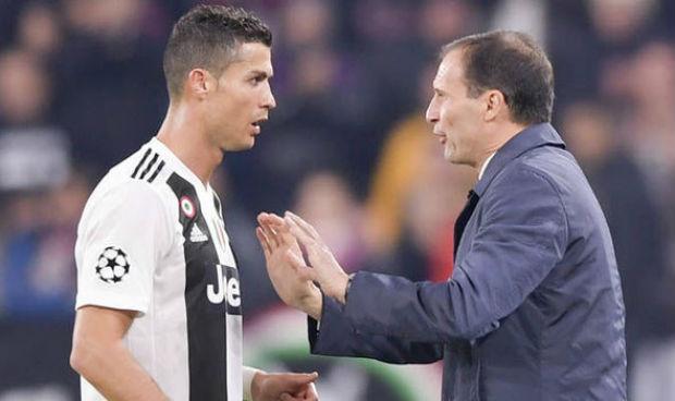 Massimiliano Allegri and Cristiano Ronaldo