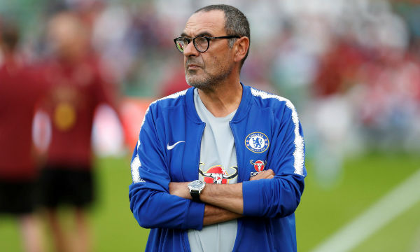Maurizio Sarri spent an hour with Chelsea players