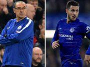 Maurizio Sarri believes Eden Hazard's role as a striker