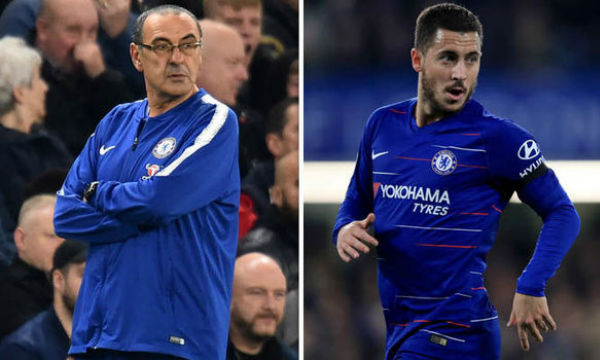 Maurizio Sarri believes Eden Hazard's role as a striker