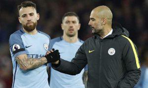 Pep Guardiola believes Nicolas Otamendi is not happy