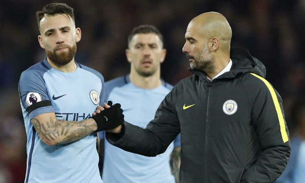 Pep Guardiola believes Nicolas Otamendi is not happy