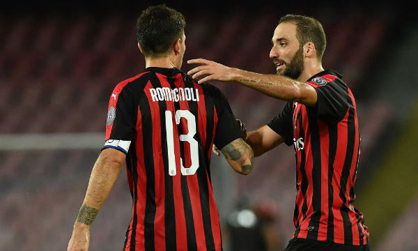 Alessio Romagnoli believes Gonzalo Higuain is the best striker in the world