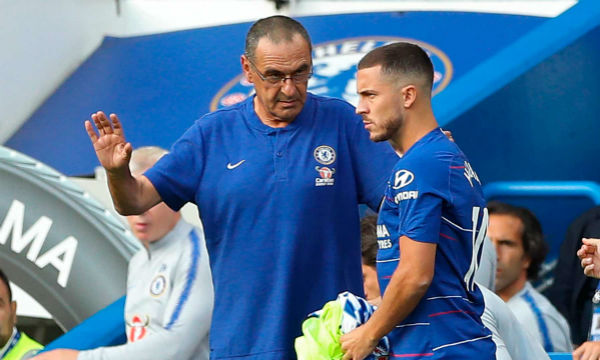 Eden Hazard believes he and Maurizio Sarri think the same way about football