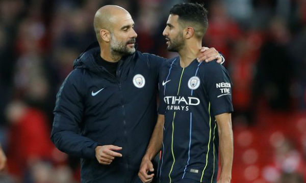 Pep Guardiola apologizes for keeping Riyad Mahrez out of the Manchester City starting XI