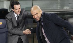 Arsenal manager Unai Emery believes Pep Guardiola is the best manager