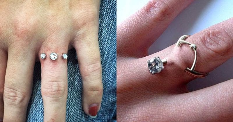 Diamond Finger Piercing Is A Viral Trend Among Engaged Couples And