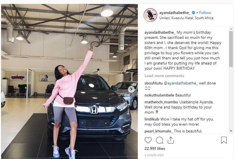 Ayanda Buys Her Mom A Car
