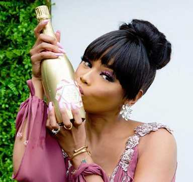 BONANG NOT PHASED BY HER BUBBLY'S 'SPELLING ERROR'